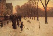 Childe Hassam Boston Common at Twilight oil painting picture wholesale
